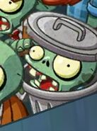 Trash Can Zombie in Multiplayer menu