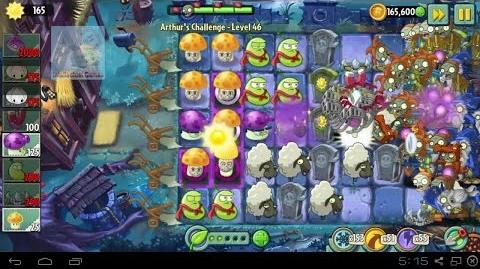 Arthur's Challenge Level 46 to 50 MagnetShroom Battle Plants vs Zombies 2 Dark Ages