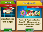 Parsnip and Bundle with Costume In Store
