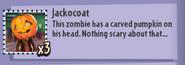 Jackocoat Stickerbook Description