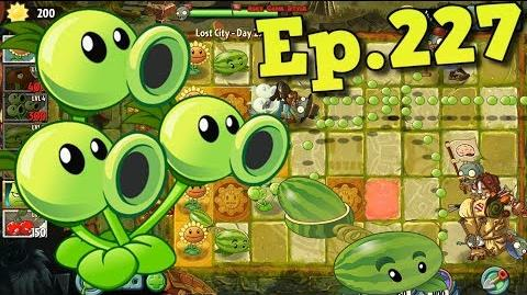 Plants vs. Zombies 2 Threepeater and Melon-pult - Lost City Day 25 (Ep