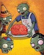 Cooking zombie calendar