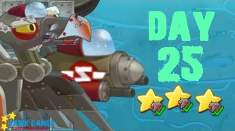 Plants vs Zombies 2 China - Sky City Day 25 BOSS Zombot Vulture Fighter 《植物大战僵尸2》- 天空之城 25天