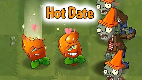 Plants vs Zombies 2 - Hot Date Gameplay Invisible Hot Date Glitch