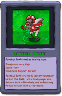 Almanac Card Football Zombie