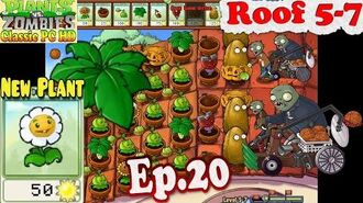 Plants vs. Zombies - New Plant Marigold - Roof 5-7 - Classic PC HD (Ep.20)