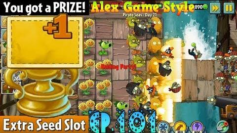 Plants vs. Zombies 2 Prize Extra Seed Slot - Pirate Seas Day 21 (Ep.101)