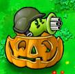 Gatling pea pumpkin