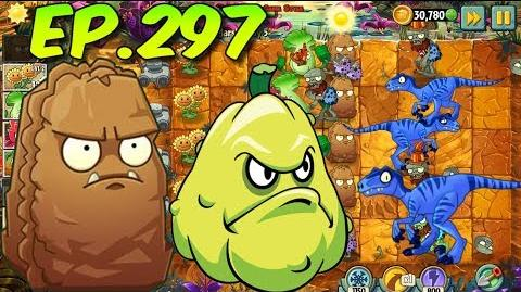 Plants vs. Zombies 2 Primal Wall-nut, Squash, plants Level Up - Jurassic Marsh Day 5 (Ep