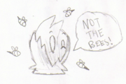 Not the bees drawing by itsleo20
