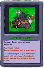 Almanac Card Catapult Zombie