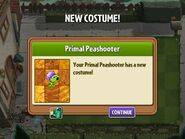 Getting Primal Peashooter's Second Costume