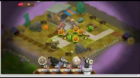 Plants vs Zombies Adventures Part 6 Facebook game - Dire Spires Map and Workshop Lot