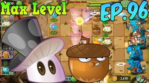Plants vs. Zombies 2 (China) Magic Mushroom Max 4 level, Whirlwind Acorn - Kung-Fu Day 10 (Ep