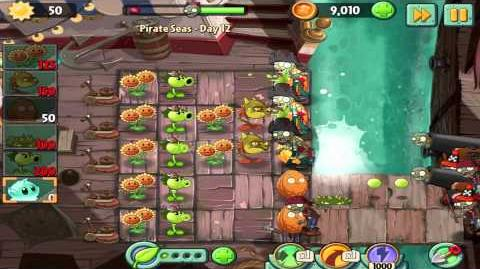 Plants vs Zombies 2 Pirate Seas Day 12 Walkthrough