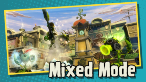 Mixed Mode Is A Mode In Plants Vs. Zombies: Garden Warfare And Plants Vs.  Zombies: Garden Warfare 2. Different Multiplayer Game Modes Can Be Played  Through ...
