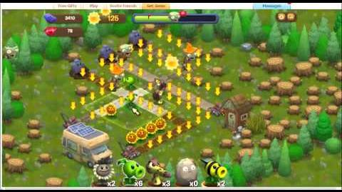 Plants vs Zombies Adventures Part 5 Facebook game - Dire Spires Map
