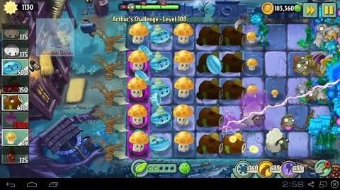 Arthur's Challenge Level 106 to 110 Plants vs Zombies 2 Dark Ages