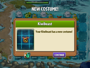 Getting Kiwi Beast Second Costume