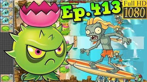 Plants vs. Zombies 2 Homing Thistle contra surfing - Big Wave Beach Day 21 (Ep
