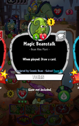 Magic Beanstalk Conjured by Cosmic Bean
