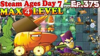 Plants vs. Zombies 2 (China) - Carrot Missile Truck MAX 4 level - Steam Ages Day 7 (Ep.375)