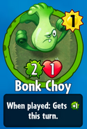 Receiving Bonk Choy
