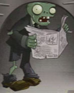 Young Newspaper Zombie