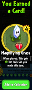 Earning Magnifying Grass