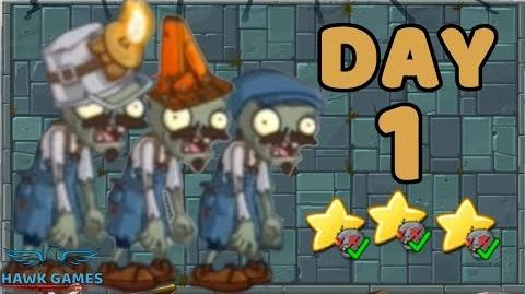 Plants vs Zombies 2 China - Steam Ages Day 1 Zombies 《植物大战僵尸2》- 蒸汽时代 1天