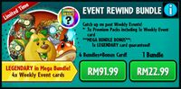 Event Rewind Bundle PvZH