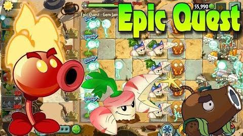 Plants vs. Zombies 2 GEM JAM - 10 steps - Epic Quest (Ep