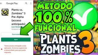 😱como DESCARGAR Plants Vs Zombies 3 pre alpha METODO 100% FUNCIONAL ⚠dispositivos compatibles⚠