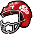 Zombie football helmet2