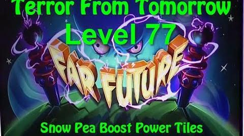 Terror From Tomorrow Level 77 Snow Pea Boost Power Tiles Plants vs Zombies 2 Endless GamePlay Walkth