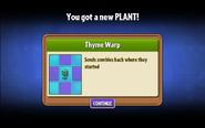 Thyme Warp Unlock