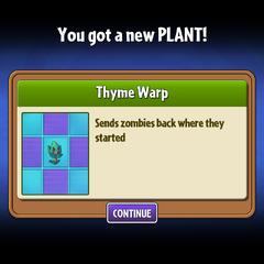 Khi lấy được Thyme Warp