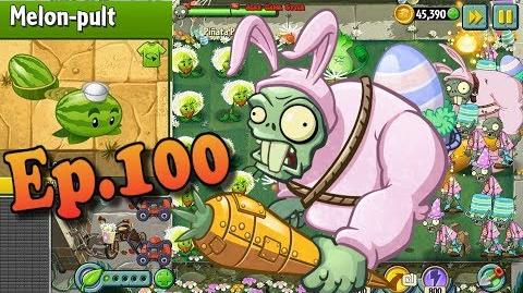 Plants vs. Zombies 2 Melon-pult Costume - EASTER Pinata Party 3 29 2018 (Ep