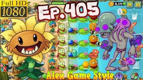 Plants vs. Zombies 2 New Octo Zombie - Big Wave Beach Day 17 (Ep