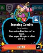 Beta Stats Sneezing Zombie