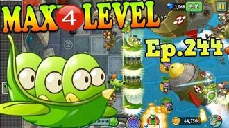 Plants vs. Zombies 2 (China) - Horse Bean MAX 4 level - Sky City Day 14 (Ep.244)