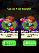 Choice between Disco Zombie and Disco Zombie