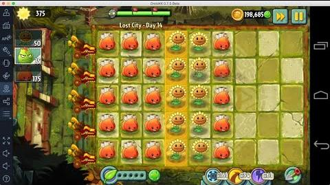 Plants vs Zombies 2 - Lost City Day 14