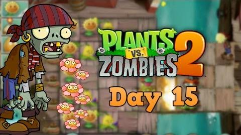 Plants vs Zombies 2 Pirate Seas Day 15 Walkthrough