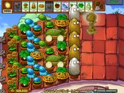 Plantz vs zombies survival rooftop hard