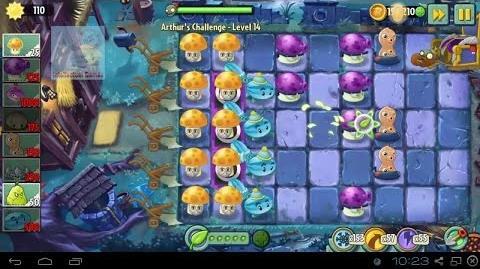 Arthur's Challenge Level 11 to 15 Plants vs Zombies 2 Dark Ages