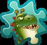 Dinosaur Roar Grass Costume Puzzle Piece