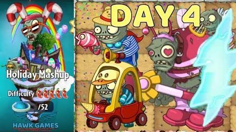 Holiday Mashup World 😎 - Plants vs Zombies 2 🌻 - Day 4 Easy (Portals)