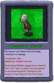 Almanac Card Buckethead Zombie
