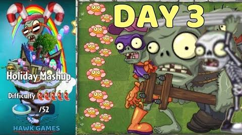 Holiday Mashup World 😎 - Plants vs Zombies 2 🌻 - Day 3 Easy (Don't Trample the Flowers)